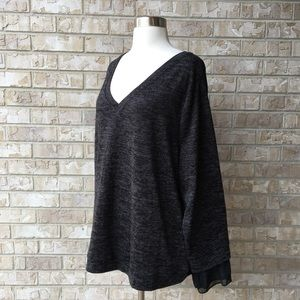 NWT Ava & Viv Knitted Top Blouse Size 2X
